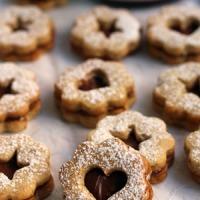 Biscoitos Linzer com Nutella