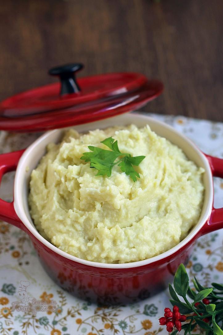 Versão diferente e deliciosa de purê de batata doce com gorgonzola!