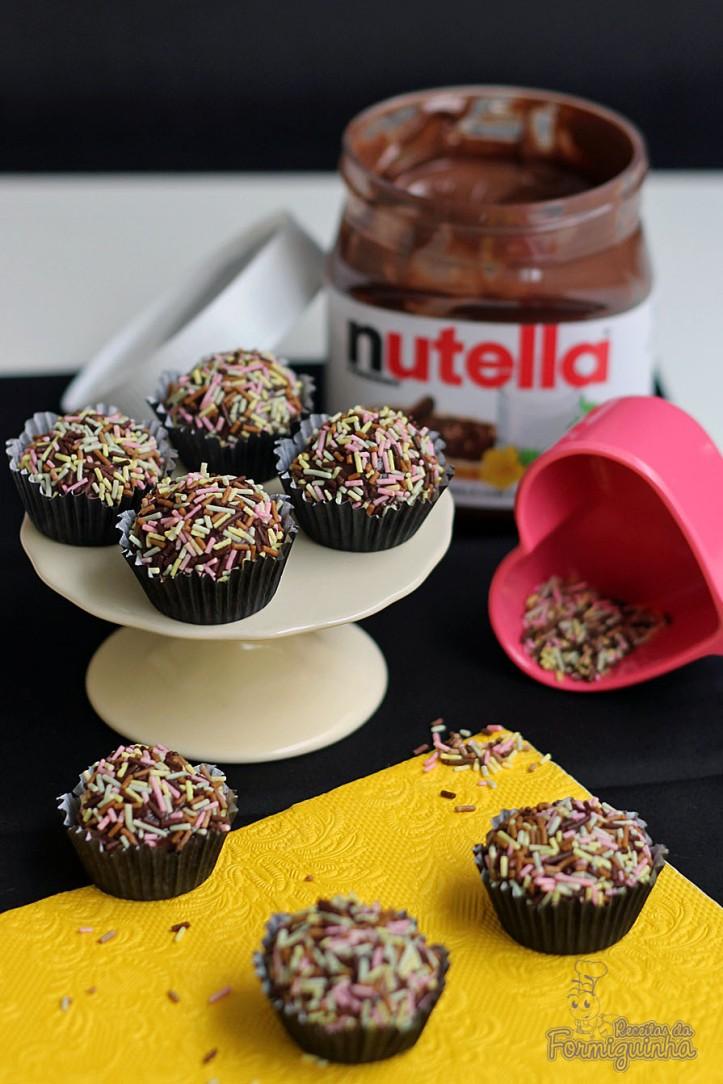 Nutella em formato brigadeiro.. Muito amor!!!