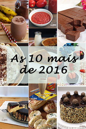 As 10 receitas mais visitadas de 2016
