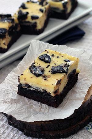 3 camadas de delícias: Brownie, Oreo e Cheesecake! Podia ser melhor?! Incrível Brownie Cheesecake de Oreo, quem resiste?!